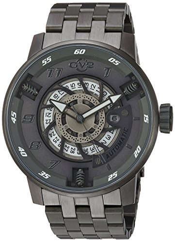GV2-by-Gevril-Mens-Motorcycle-Sport-Automatic-Stainless-Steel-Casual-Watch-ColorGrey-Model-1303B