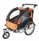 Baby Diego Bike Trailer/Jogger, Orange/Black