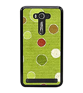 Fuson Premium 2D Back Case Cover Pulka dots With Red Background Degined For Asus Zenfone 2 Laser ZE500KL::Asus Zenfone 2 Laser ZE500KL (5 Inches)