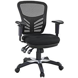 LexMod Articulate Black Mesh Office Chair