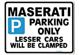 MASERATI Car Parking Sign - Gift for 3200 3500 GT GTA Granturismo Quattroporte models - Size Large 205 x 270mm