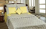 Thuhil home linen Chevy 100% Cotton printed Double Bedspread With 2 Pillow Covers-King Size,Multi (King)
