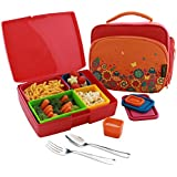 Lunch Kit, Garden - USA Made Bento Lunchbox with Leak-proof Containers, Insulated Tote and Utensils - Perfect for Travel and School!