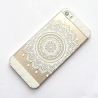 iPhone 5 Case, LUOLNH Henna Full Mandala Floral Dream Catcher Hard Plastic Clear Case Silicone Skin Cover for Iphone 5/5S by LUOLNH