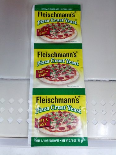 Fleischmann'S Pizza Crust Yeast, Specially Formulated For Pizza Crust, 0.75 Oz (Pack Of 6)