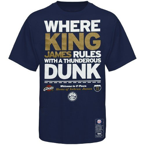 Cheap majestic cleveland cavaliers 23 lebron james navy for Lebron shirts for sale