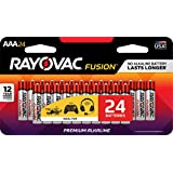RAYOVAC 824-24CTFUS FUSION Long-Lasting Alkaline Batteries (AAA, 24 Pk)