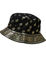 "The ""Paisley Bandana"" Bucket Hats by KBETHOS"