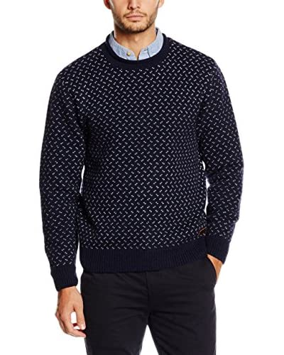 Dockers Jersey Graphic Nordic Crewneck Azul Oscuro