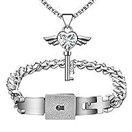 MLOVE Lovers Love Heart Lock Bracelet…