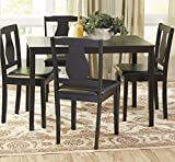 Barton Dining Set, 5 Piece, Dining Table and 4 Upholstered Chairs thumbnail