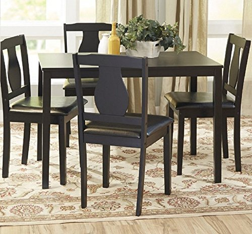 Barton Dining Set, 5 Piece, Dining Table and 4 Upholstered Chairs image