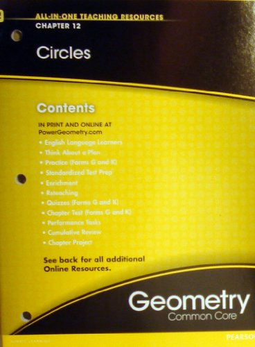 Circles Chapter 12 (All-In-One Teaching Resources Geometry Common Core)