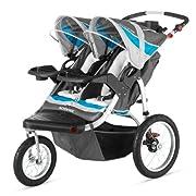 Schwinn Turismo Double Swivel Stroller Grey/Blue