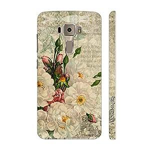 Enthopia Designer Hardshell Case WHITE FLOWER TOUCH Back Cover for Asus Zenfone 3 ZE552KL