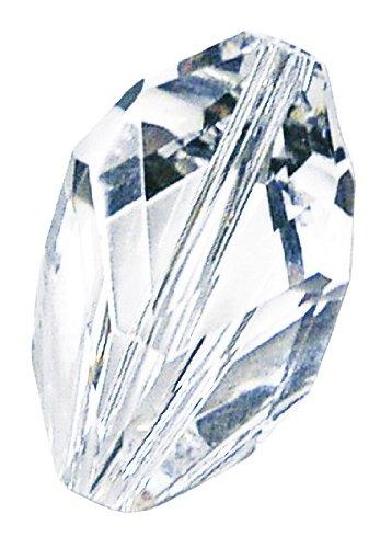 Rayher Hobby 14150861 Swarovski cristallo-Cubist-perla, 16 x 10 mm, confezione da 1 pcs, silver shadow