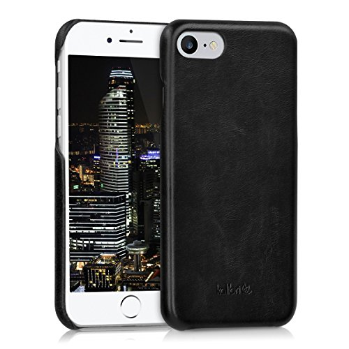kalibri-Echtleder-Backcover-Hlle-fr-Apple-iPhone-7-Leder-Case-Cover-Schutzhlle-in-Schwarz