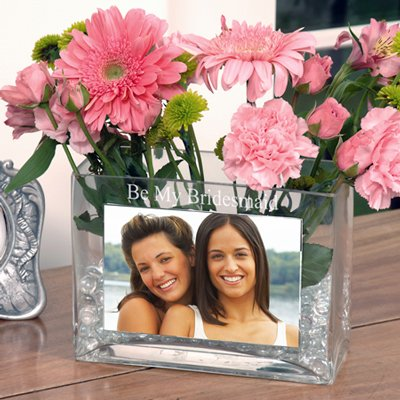 Raebella New York'S Glass Photo Vase Personalized Gift Favor With Be My Bridesmaid front-653177