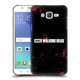 Official AMC The Walking Dead Blood Black Logo Hard Back Case for Samsung Galaxy J7