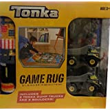 Tonka Truck 40in Square Jumbo Game Rug w/ Toy 2 Trucks