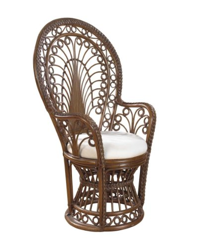 Rattan Peacock Chair with cushion Antique picture
