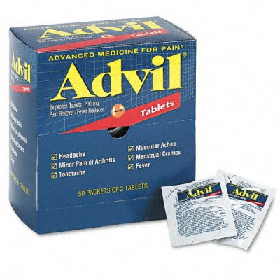 Advil Tablets Pain Reliever Refill - 50 Two-Packs per Box(sold in packs of 2)