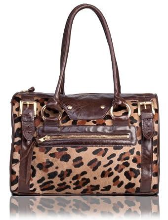 e3bbaaea0e33 Leopard Print Calf Hair and Brown Leather Handbag: Handbags: www.jcna.com.  Exoticglitter LYDC Hand Shoulder Bag Croc ...