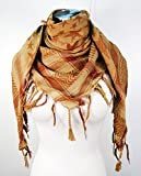 Premium Star Pattern Shemagh Head Neck Scarf - Rust/Camel