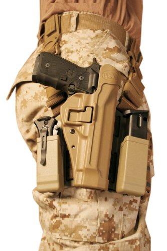 BLACKHAWK! Serpa Level 2 Tactical Holster USMC, Coyote Tan/Size 04, Left Hand, (Beretta 92/96/M9 Std or A1 w/rails (NOT Brig/Elite)