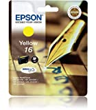 Epson 16 Original Yellow Ink Cartridge (Pen & Crossword) for Epson WorkForce Printers WF 2010W, WF 2510WF, WF 2520NF, WF 2530WF, WF 2540WF.