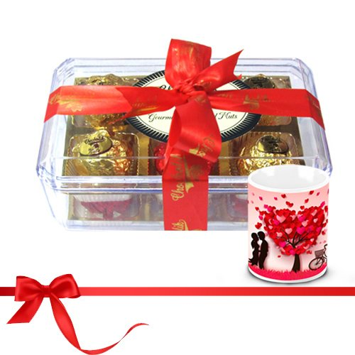 Chocholik Luxury Chocolates - Savory Treasure Of Wrapped Truffles With Love Mug