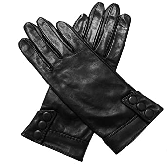Crievn® Women's Medium Style Keep Warm Geniune Leather Iphone Ipad Ipod Itouch Touch Screen Gloves