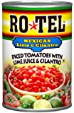 Ro-Tel, Diced Tomatoes, Mexican With Lime Juice & Cilantro 10oz Can (Pack of 3)