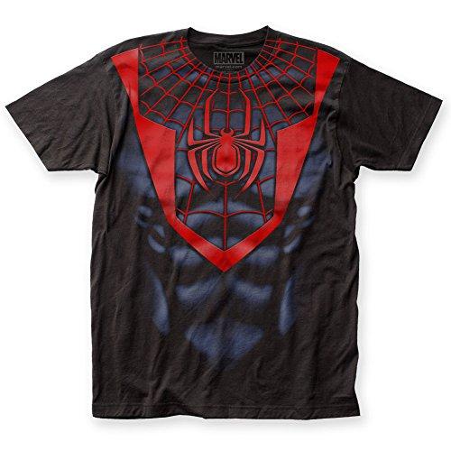 Spider-Man - Mens Morales Suit Big Print T-Shirt (XXL, Black)