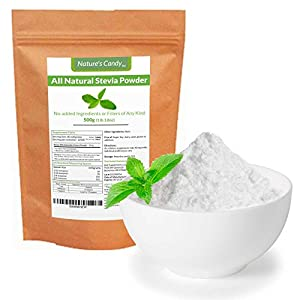 All Natural Stevia Powder - No fillers, Additives or Artificial Ingredients of Any Kind - Highly Concentrated Stevia Extract Sugar Substitute (500g)