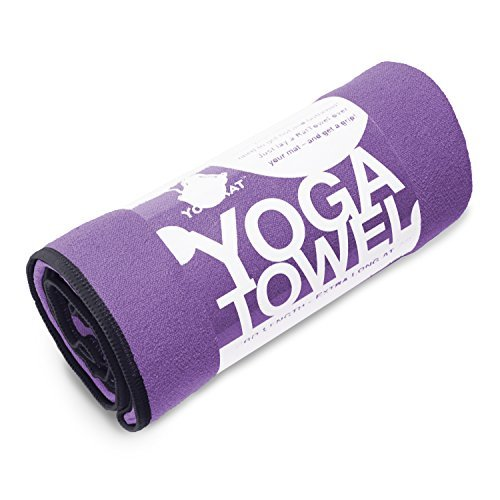 YogaRat Purple-Black 100% Microfiber Yoga Mat Towels - Length (24