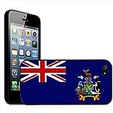 Fancy A Snuggle - Carcasa rígida para iPhone 5, diseño de bandera de las Islas Georgias del Sur y Sandwich del...