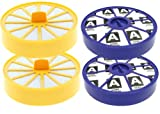 First4spares Washable Pre Motor Top Filters and Post Motor Allergy HEPA Filters for Dyson DC04 Vacuum Cleaners (2 of Each)
