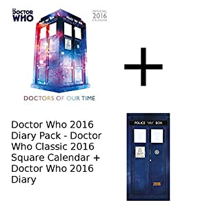 Doctor Who 2016 Diary Pack - Doctor Who Classic Square Calendar + 2016 Diary