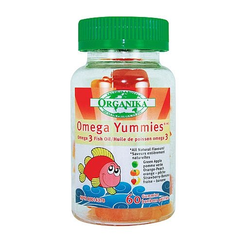 Organika Omega Yummies And Reg, 60 Gummies