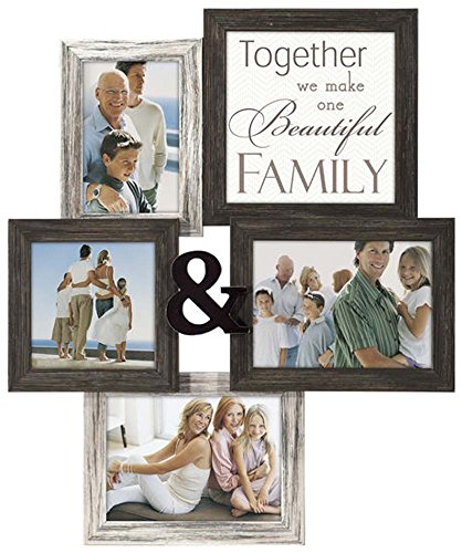 Malden International Designs Together We Make One Beautiful Family Collage Frame, 1-4 x 6/5 x 5 & 2-5 x 7