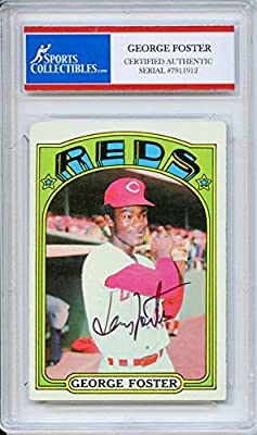 George Foster Autographed Cincinnati Reds Encapsulated Trading Card - Certified Authentic