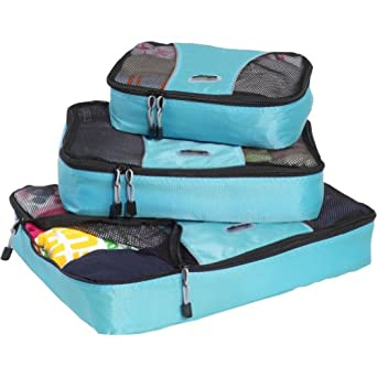 eBags Packing Cubes - 3pc Set (Aquamarine)
