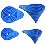 """Set Of 2 Flexible Collapsible Funnel Set, Assorted Sizes 3"""" And 5"""""""