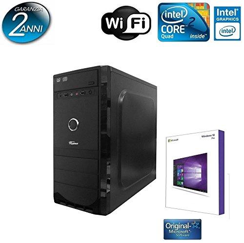 PC DESKTOP TRUSTECH INTEL QUAD CORE CON LICENZA WINDOWS 10 PROFESSIONAL 64 BIT ORIGINALE /WIFI/HD 1TB SATA III/RAM 8GB 1600MHZ/HDMI-DVI-VGA/USB 2.0 3.0/ PC FISSO COMPLETO PRONTO ALL'USO ,PER UFFICIO,CASA,GIOCHI, TRUSTECH4680