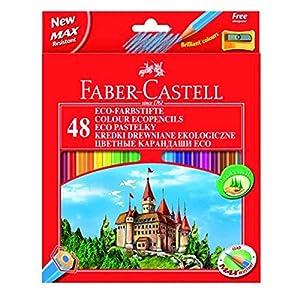 FABER-CASTELL étui de 48 crayons de couleur Hexagonal ECO