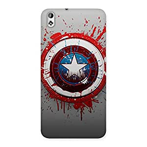 Delighted Premier Blood Round Multicolor Back Case Cover for HTC Desire 816