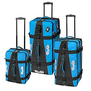 Bogi Bag Suitcase Trolley Travel Bag Suitcase Wheels 110L Assorted Colours by INSPIRION