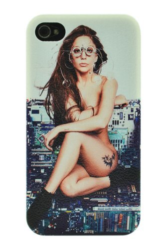 Pop Star Lady Gaga Cool Design Clear Plastic Hard Case, Iphone 4 4S Case Protective Skin Cover