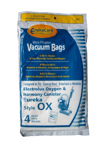 48 Ox Bags Electrolux Sanitaire S Oxygen Ultra Harmony Eureka Bb Bags, Ultra Canister, Sp6950 & Sp6952 Vacuum Cleaners. 61230-12, 6994, 6997, 6998, 6999